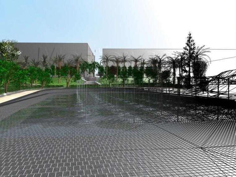 L'immagine mostra la complessità del progetto 3D