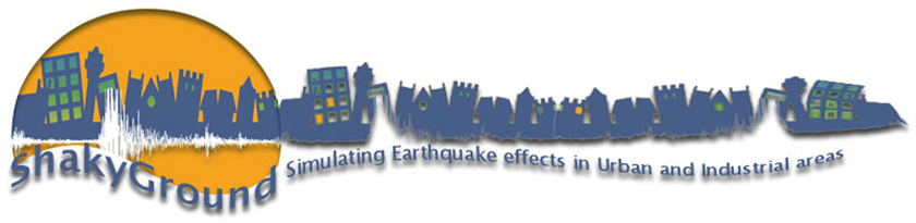 SHAKYGROUND: simulating earthquake effects in urban and industrial areas